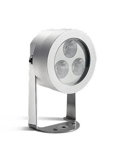 LED Strahler Midi Ø 62 mm grau