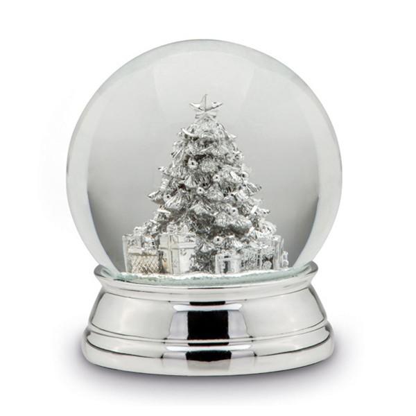 H.Bauer jun. Schneekugel 10 cm Höhe 12 cm - Art.-Nr. 5246ver große versilberte