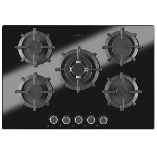 Oranier rahmenloses 5 flammiges Erdgas Kochfeld 75 cm breit GKH 2784