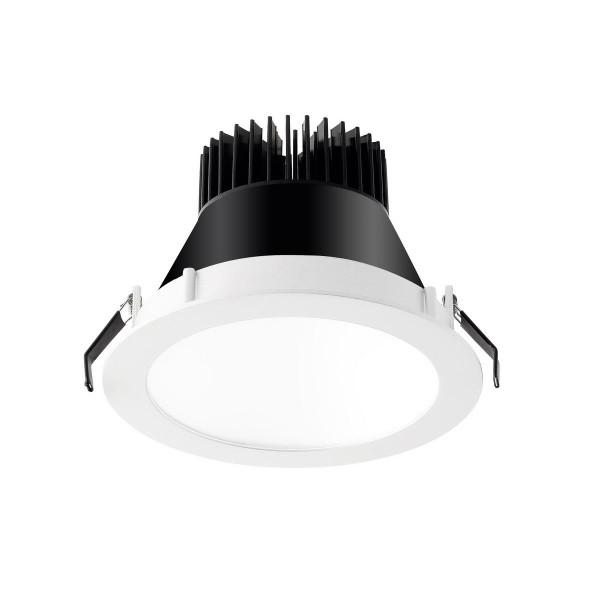 LED Einbauleuchte Equal S Ø 172 mm weiss