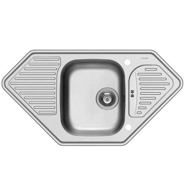 Pyramis Küchenspüle Medusa Corner 95 cm 1 Becken 2D (Einbau)