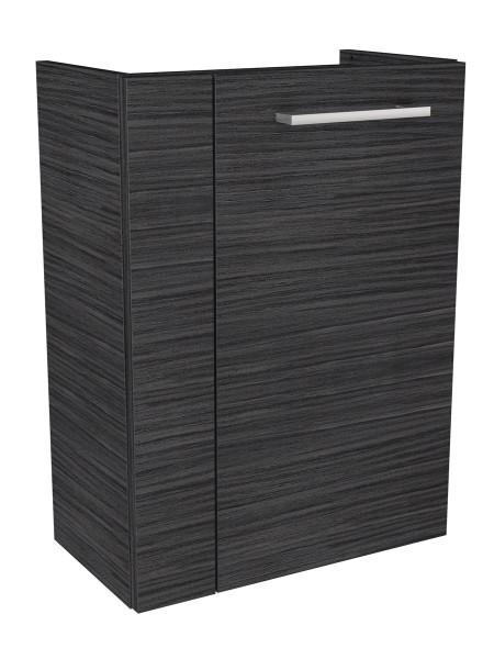 Fackelmann 80182 Waschbecken Unterschrank Gäste WC Lino 44 cm dunkle Eiche rechts