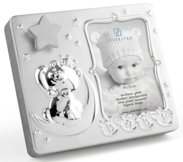 Zilverstad Fotorahmen Baby mit Spieluhr versilbert lackiert - Art.-Nr. 8077231