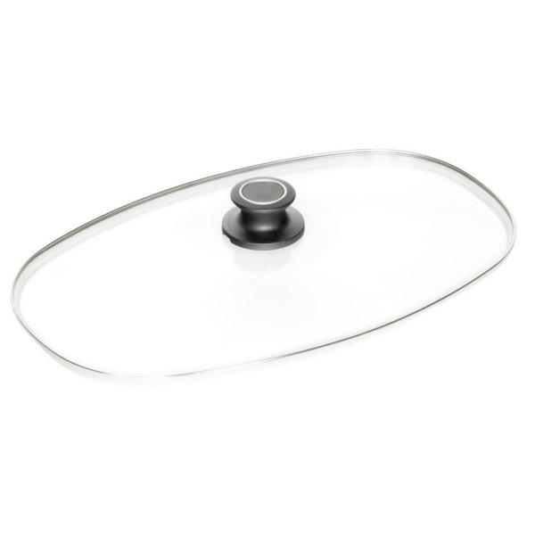 AMT Gastroguss Glasdeckel 40 x 24 cm Sicherheitsglas für Bräter mit Knauf - Art.-Nr. 04024S-Z1-L2