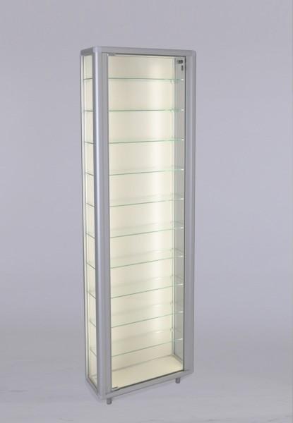 schmale verschließbare Glas Wandvitrine staubdicht beleuchtet 20 cm tief 2 x 40 W - Art.-Nr. OL5523-mb