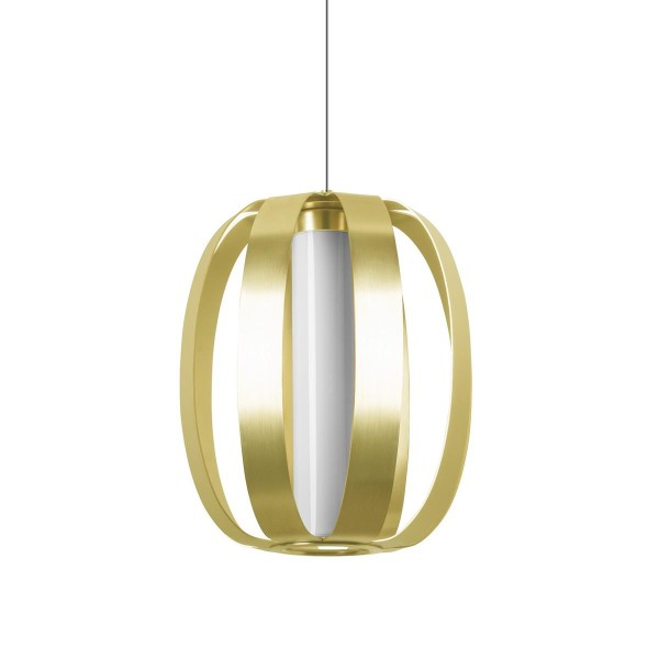 LED Pendelleuchte Dream Ø 275 mm eloxiert goldfarben