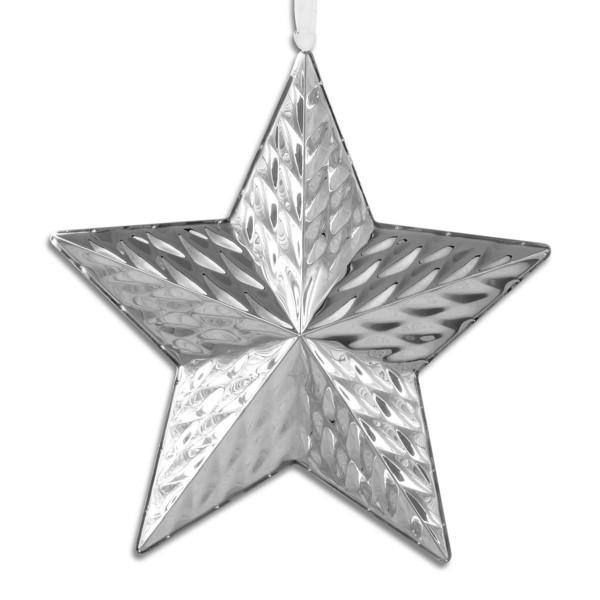 H.Bauer jun. Deko Anhänger x 2.5 cm 14 cm Diamantenoptik - Art.-Nr. 787 kleiner Edelstahl