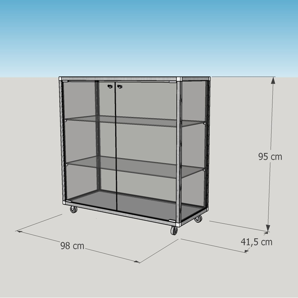 flache thekenvitrine glas abschlie bar led beleuchtung mm comsale. Black Bedroom Furniture Sets. Home Design Ideas