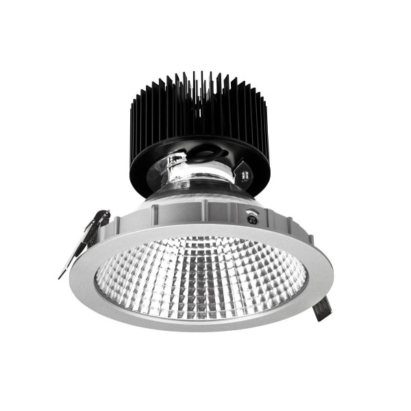 LED Einbauleuchte Equal Spot Ø 175 mm grau / Diffuser transparent