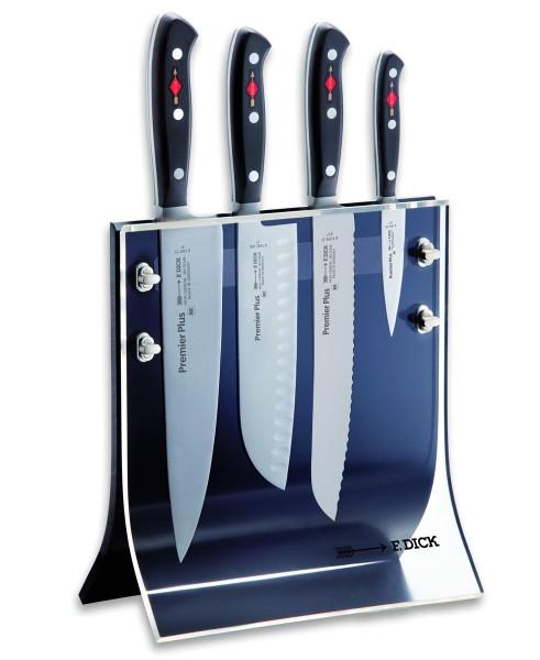 Dick 8804011 Premier Plus Messerblock Acryl 4 Knives, 4-teilig