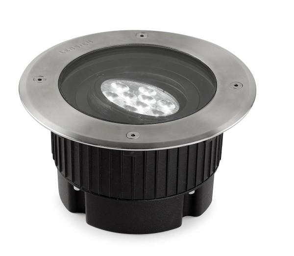 LED Bodeneinbauleuchte Gea Ø 180 mm Edelstahl poliert