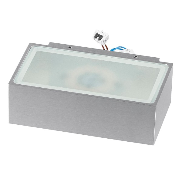 rechteckige graue dimmbare LED Innen Außen Wandleuchte 13 cm