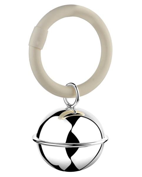 Zilverstad Rassel Ball am Ring 925-er Silber L 9 cm B 3,5 cm H 5,5 cm - Art.-Nr. A7360010