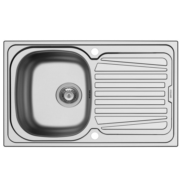 Pyramis Küchenspüle Sparta 1 Becken 1D Edelstal glatt