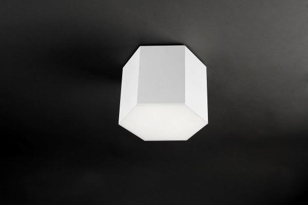 LED Deckenleuchte Six matt weiss