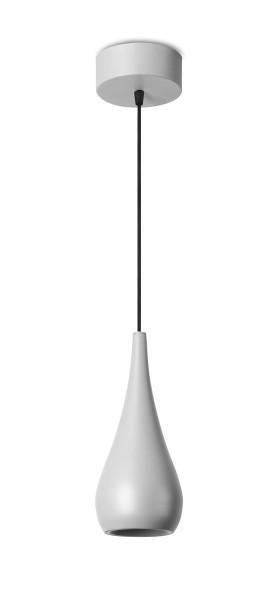 LED Pendelleuchte Cherry Ø oben= 130, unten= 126 mm grau gebrannt
