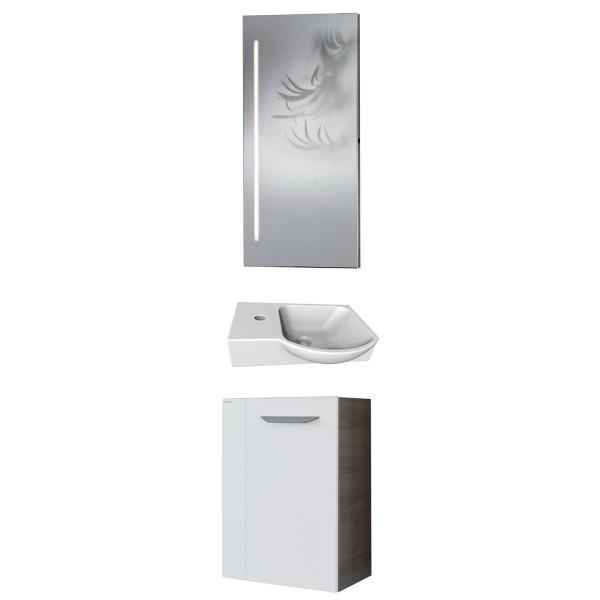 Fackelmann Gäste WC Badmöbel Kombination hängend 45 cm