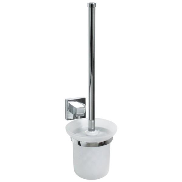 Fackelmann 86756 Toilettenbürste mit Halter Mare verchromt glänzende Oberfläche