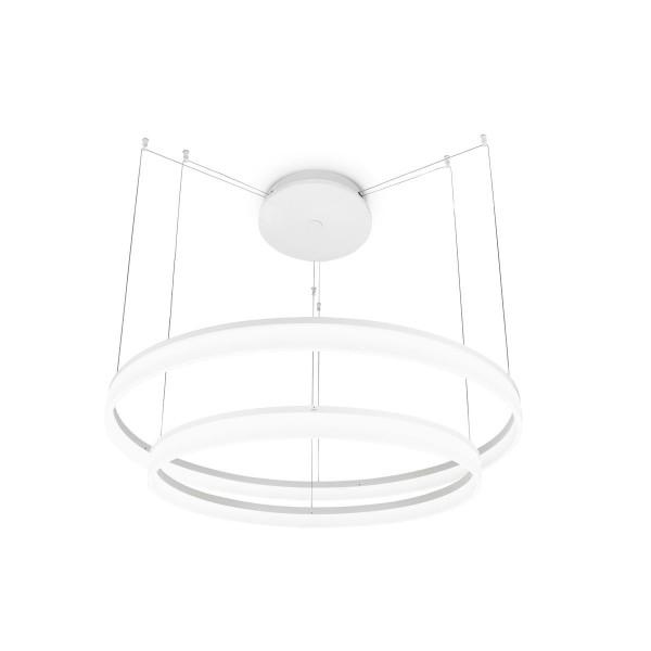 LED Pendelleuchte Circ Ø 800 mm matt weiss