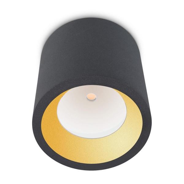 LED Deckenleuchte Cosmos Ø 126 mm anthrazit