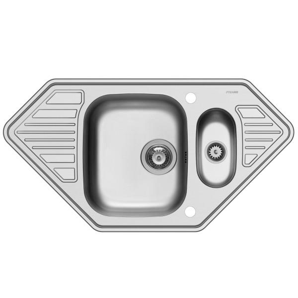 Pyramis Küchenspüle Medusa Corner 95 cm 1 1/2 Becken 2D (Einbau)