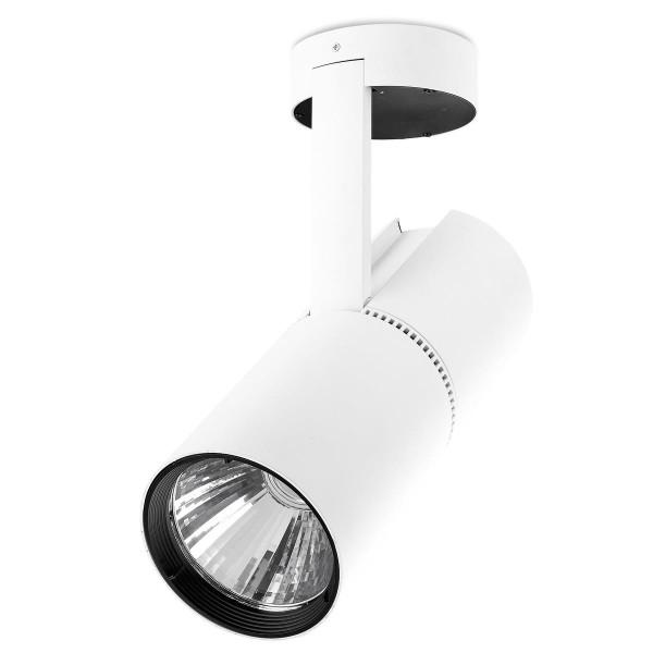 LED Strahler Bond Tube Ø 116 mm weiss / Diffuser Milchglas