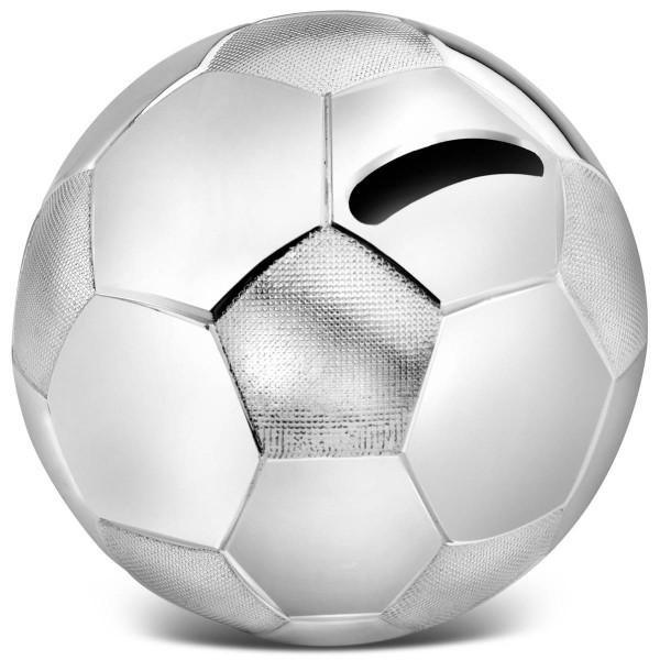 Zilverstad Spardose Fussball groß versilbert anlaufgeschützt Ø 8,5 cm - Art.-Nr. A6007260