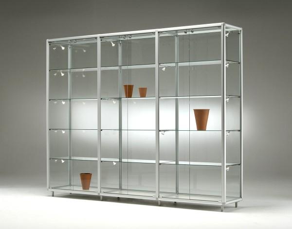 große breite Glas Ausstellungsvitrine abschließbar 230 cm  - Art.-Nr. BV23142-ob-gr
