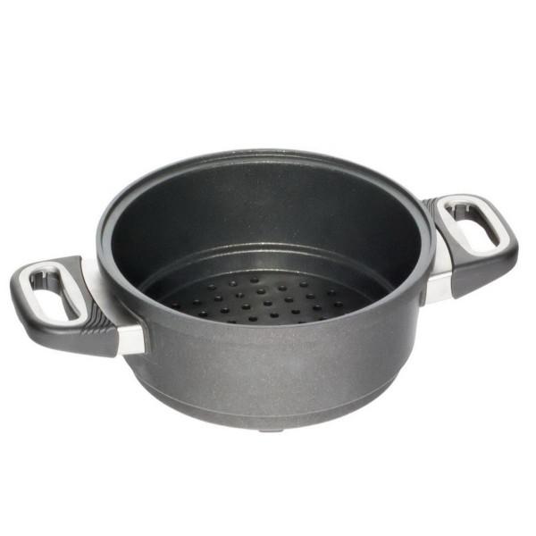AMT Gastroguss Dünstaufsatz 20 cm Aluguss für Kochtopf wasserloses kochen - Art.-Nr. Dünst-1220
