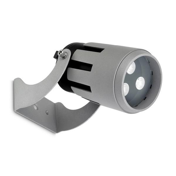 LED Strahler Powell Ø 90 mm grau