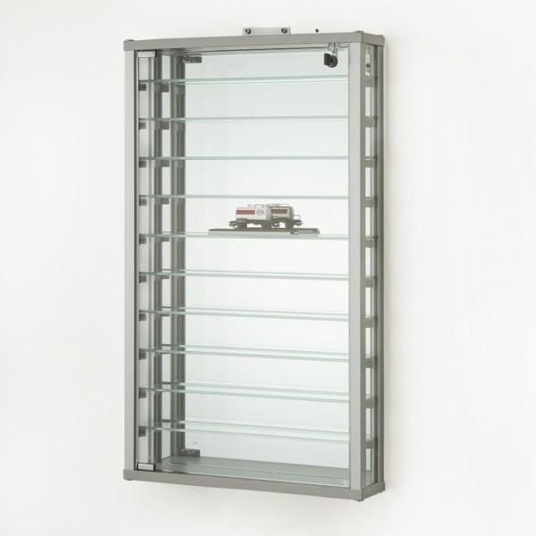 abschließbare hängende Wand-Sammler-Vitrine aus Glas 50 cm