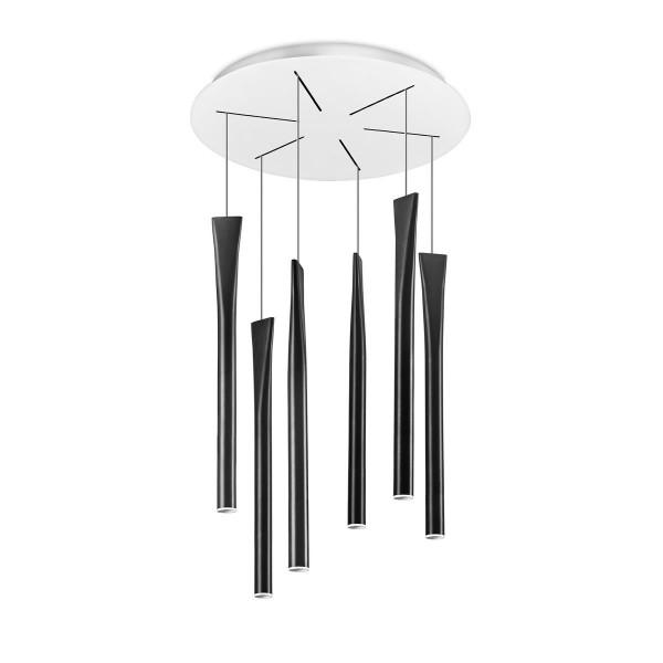 LED Pendelleuchte Rocket Ø 400 mm schwarz