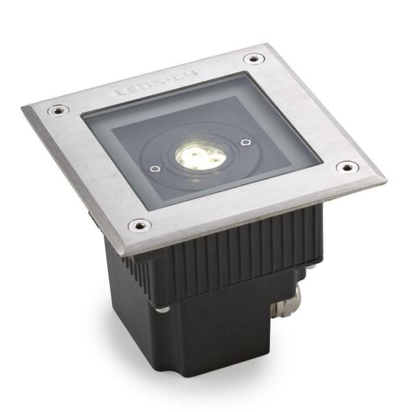 LED Bodeneinbauleuchte Gea Ø 120 mm Edelstahl poliert