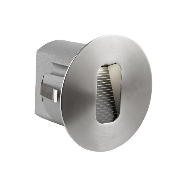 LED Wandeinbauleuchte Micenas Ø 95 mm Edelstahl poliert