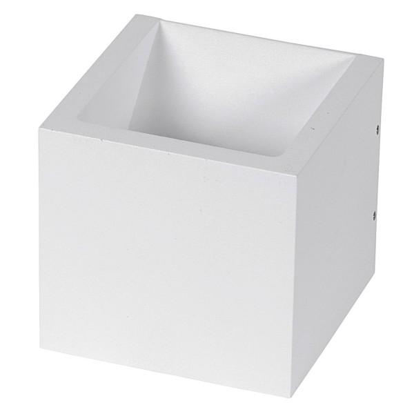 weiße quadratische dimmbare LED Innen Außen Wandleuchte 10 cm