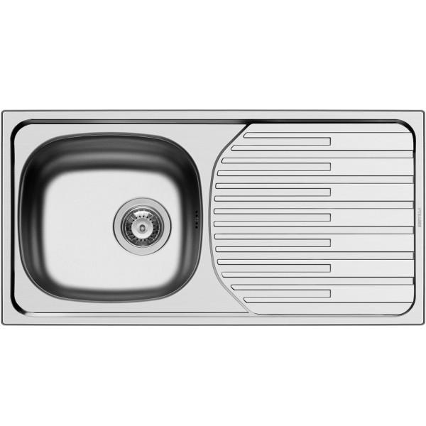 Pyramis Küchenspüle ET33 Fork 1 Becken 1 D Edelstal glatt