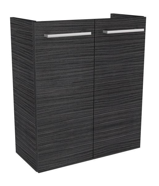 Fackelmann 80202 Waschbecken Unterschrank Gäste WC Lino 52 cm dunkle Eiche