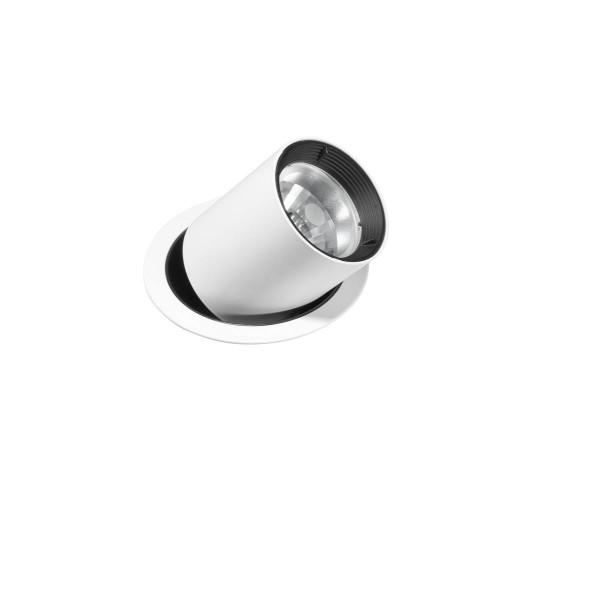 Einbauleuchte Bond Ø 116 mm schwarz weiss